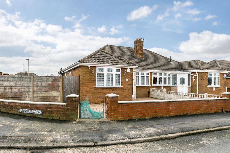 2 Bedrooms Semi Detached Bungalow for sale in Burnham Grove, Whelley, WN2 1AG