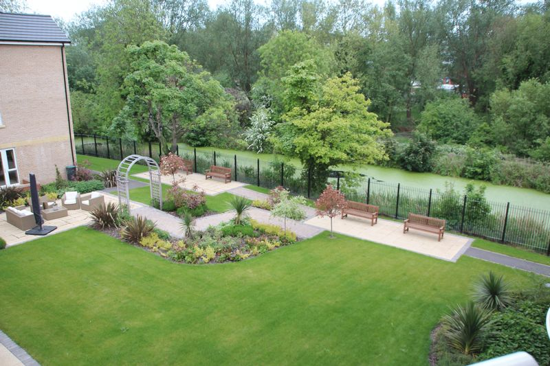View from apartment to communal gardens