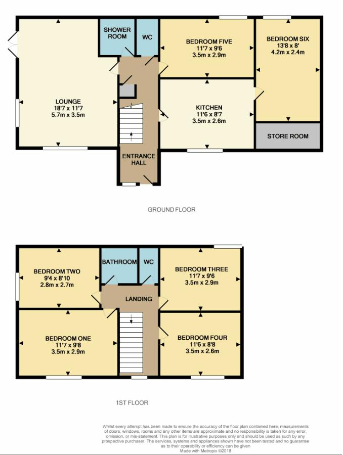 Floorplan for Both Floors at Larkman Lane