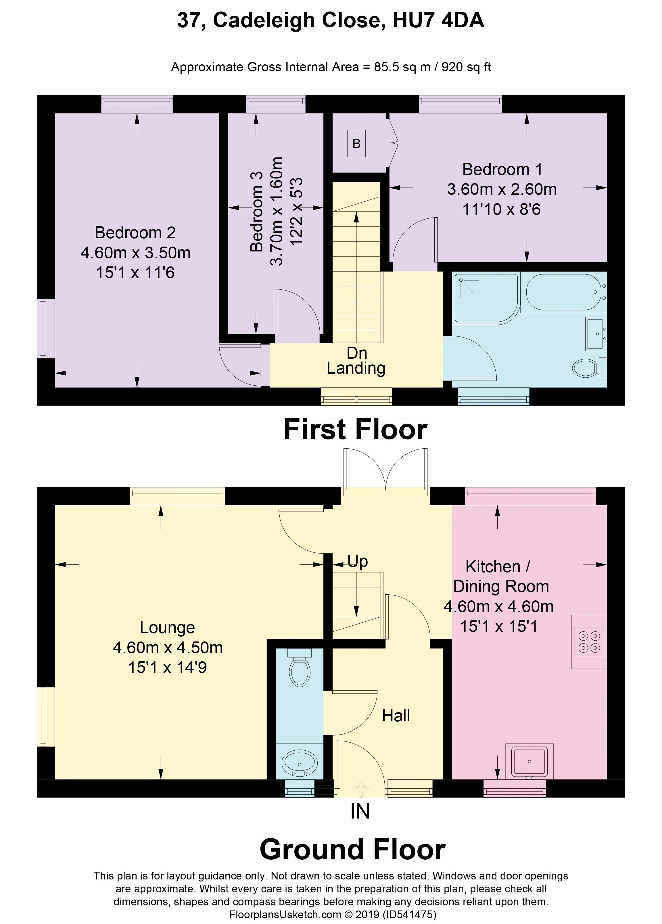 37 Cadeleigh Close - Floorplan