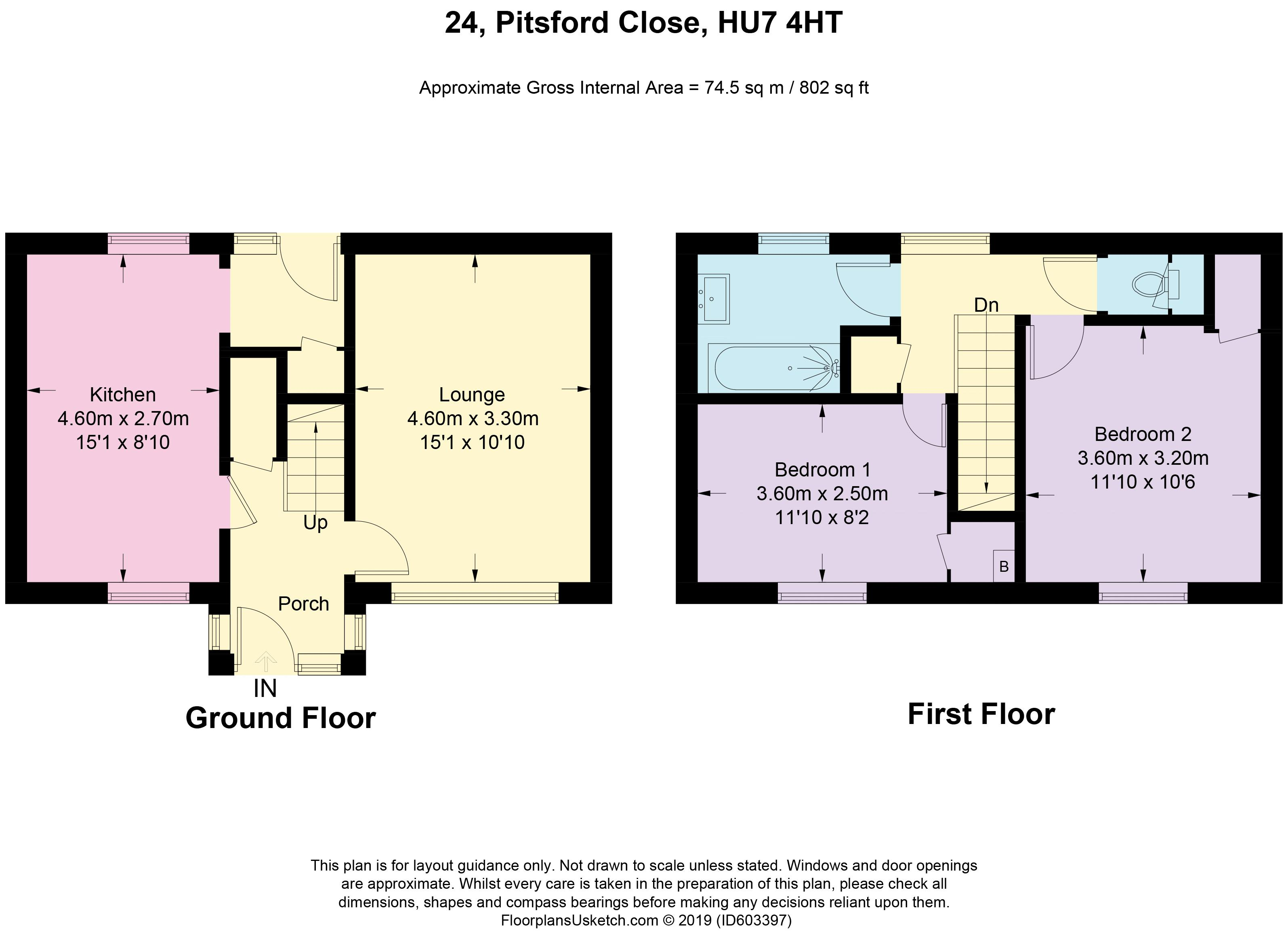 Pitsford Close - Floorplan