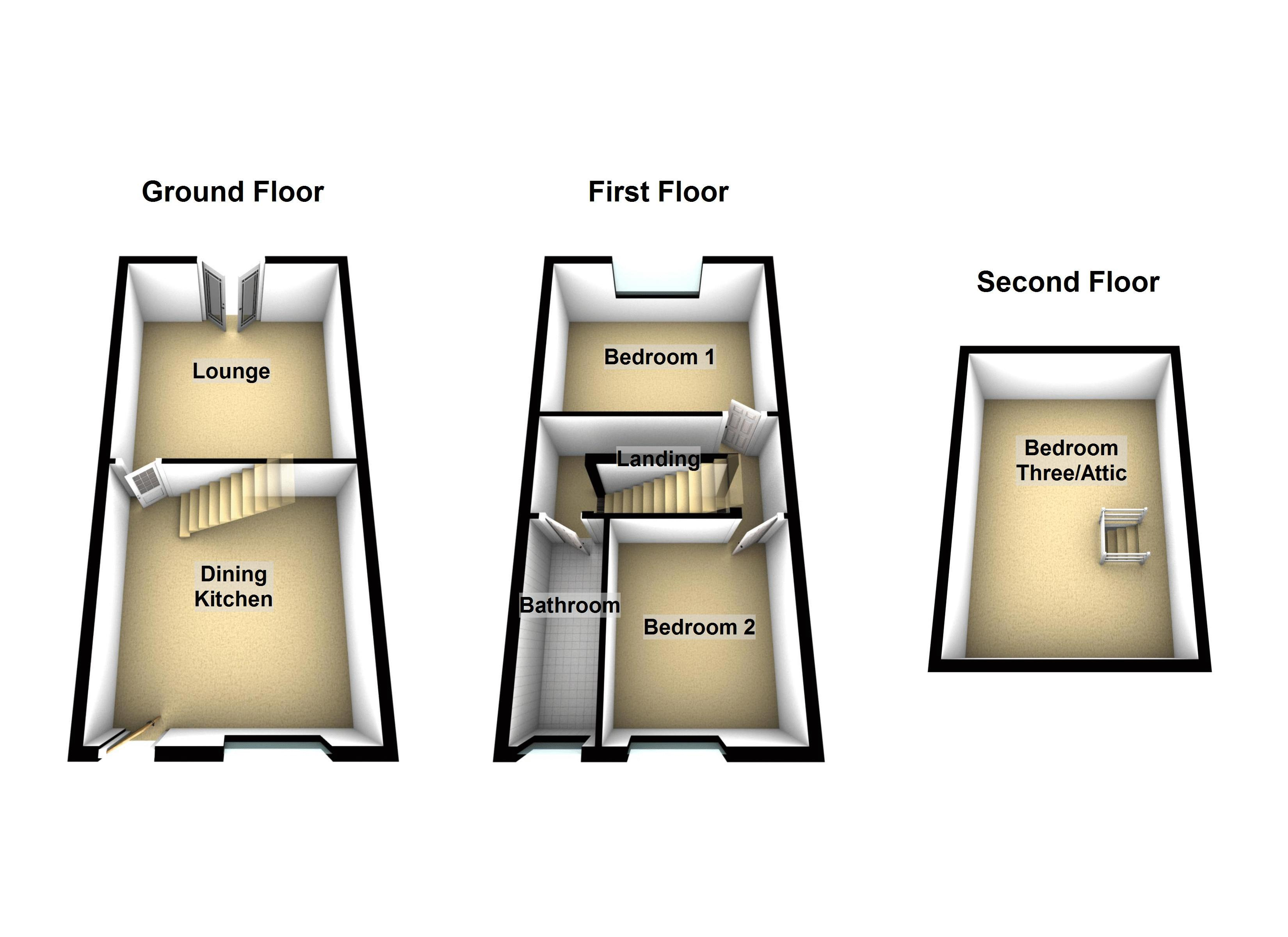 Ground/First/Second Floors