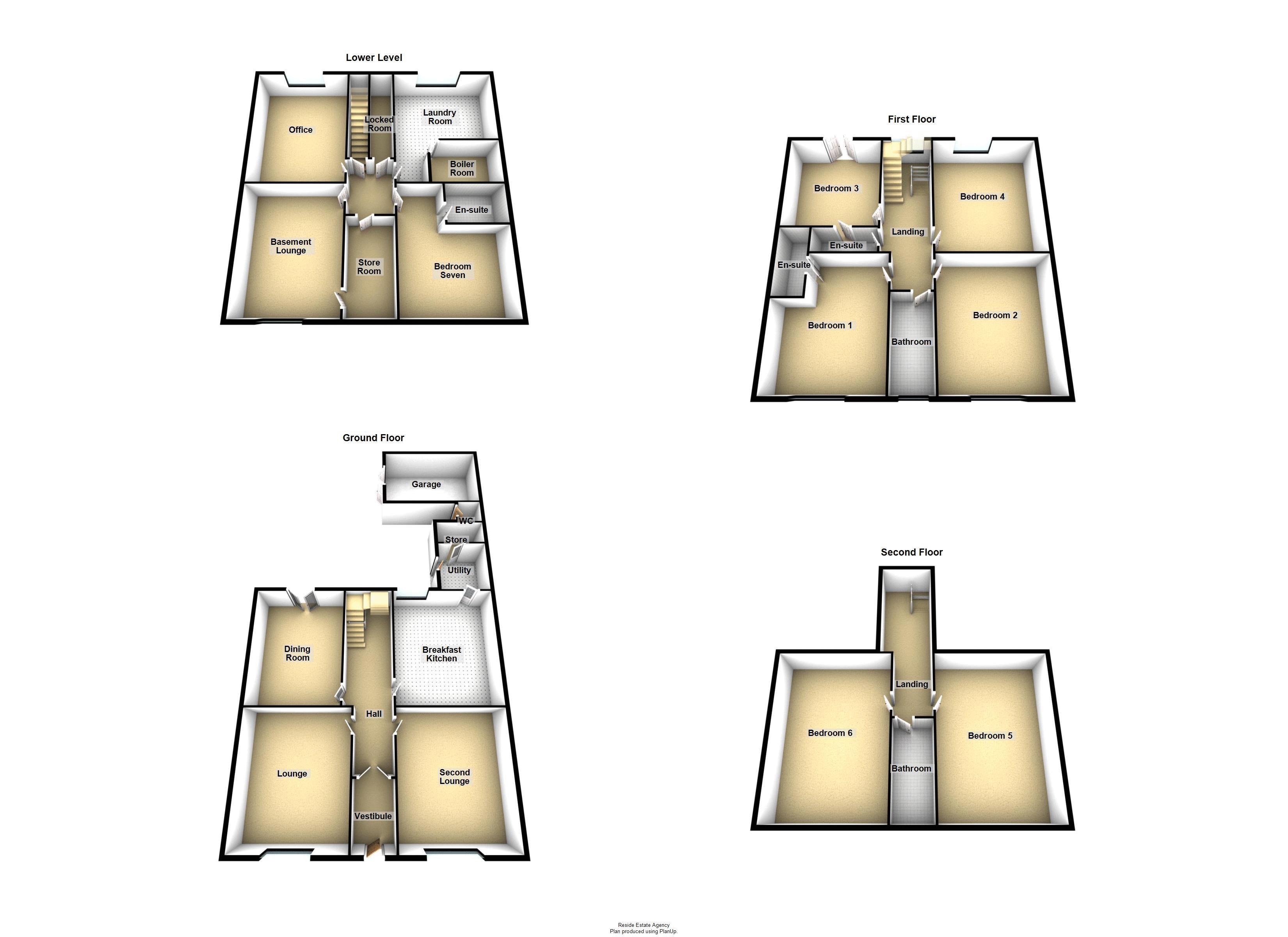 Basement/Ground/First/Second