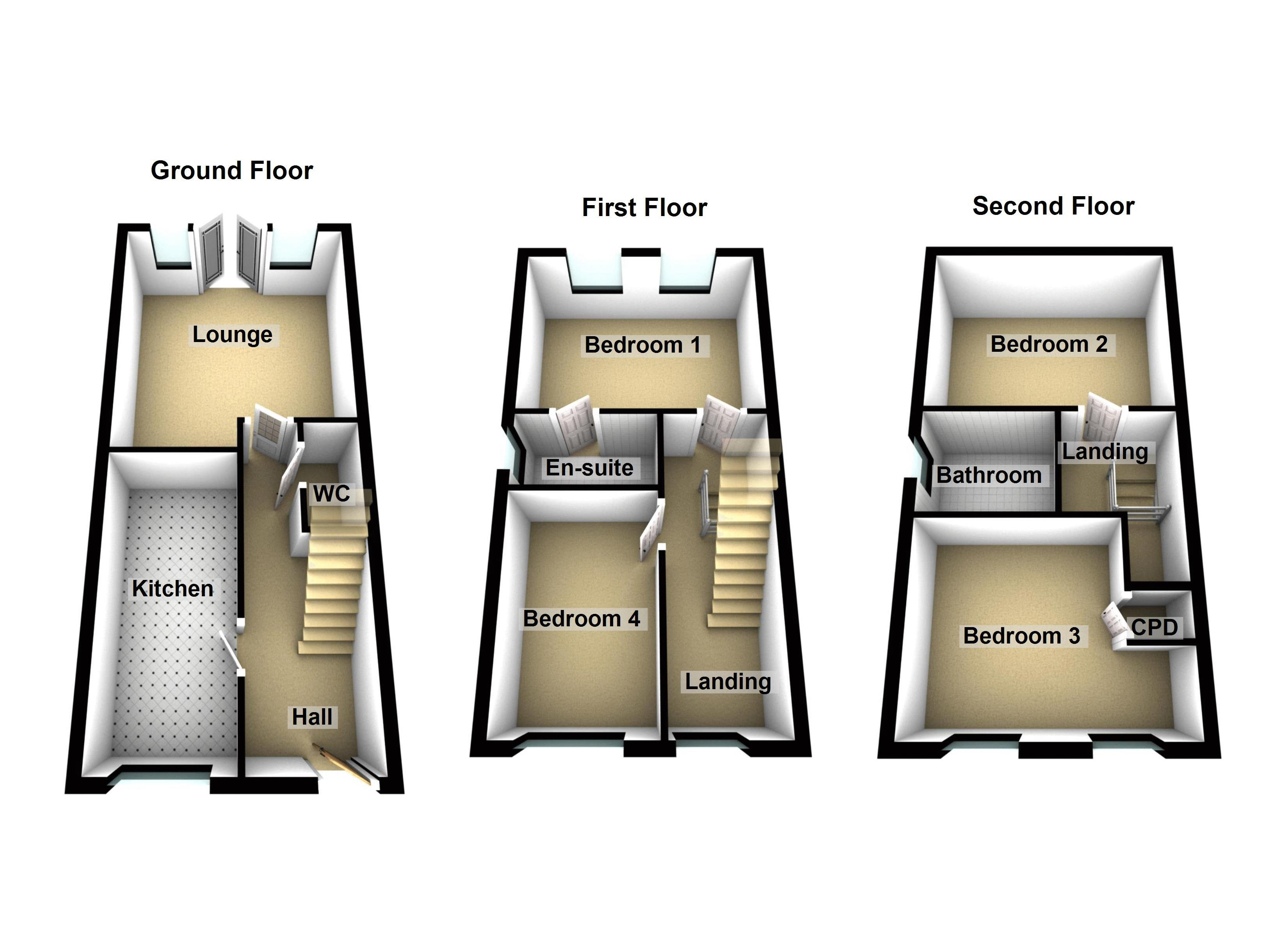 Ground / First / Second Floors