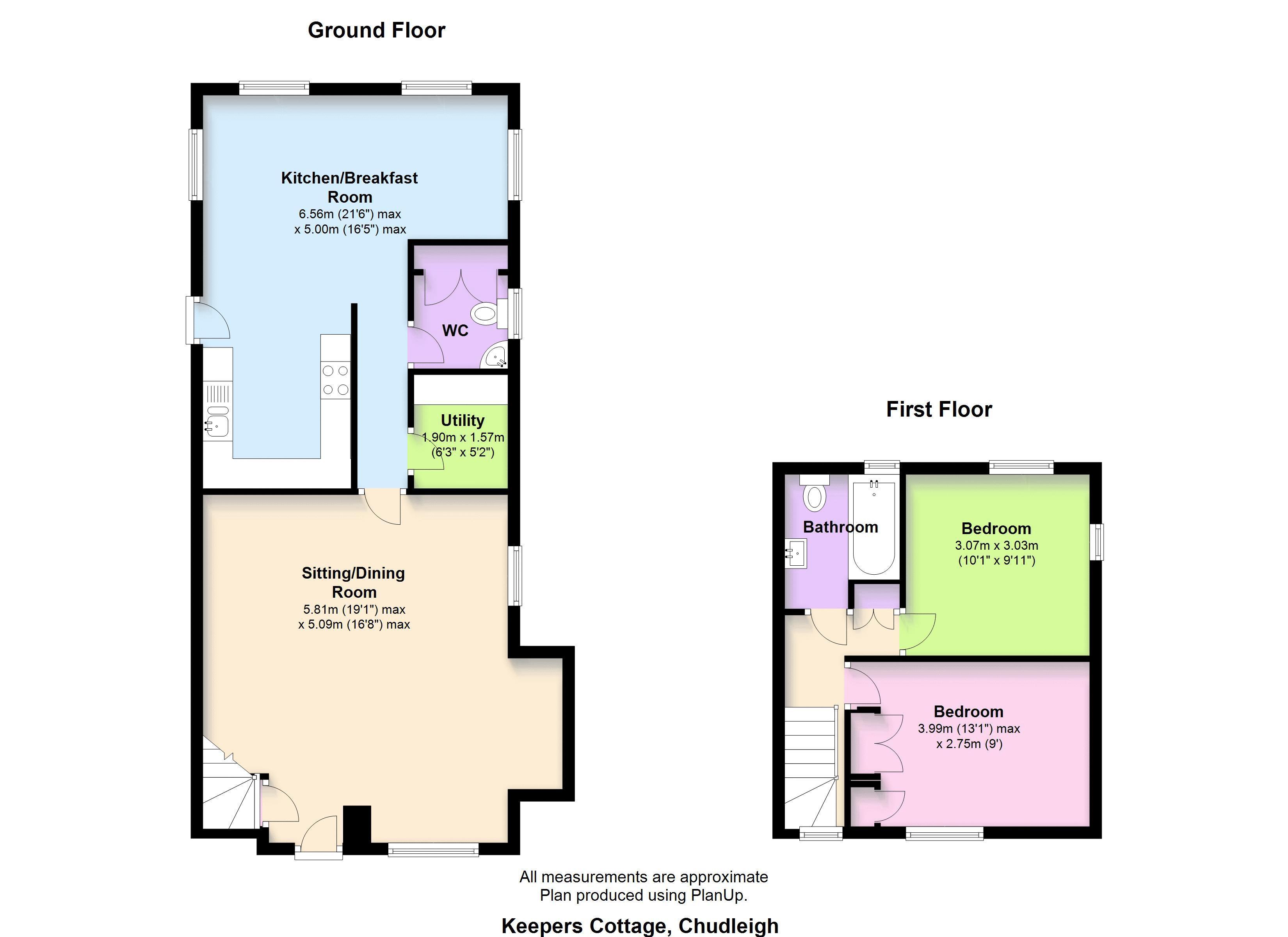 Floorplan Keepers Cottage