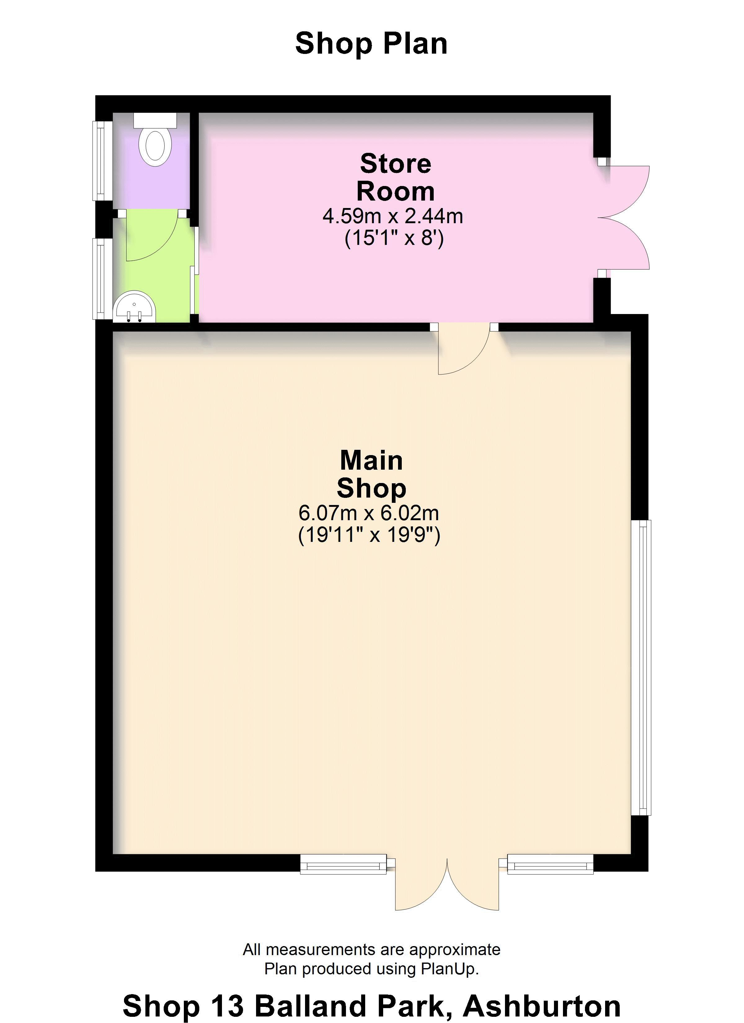 Floorplan The Shop