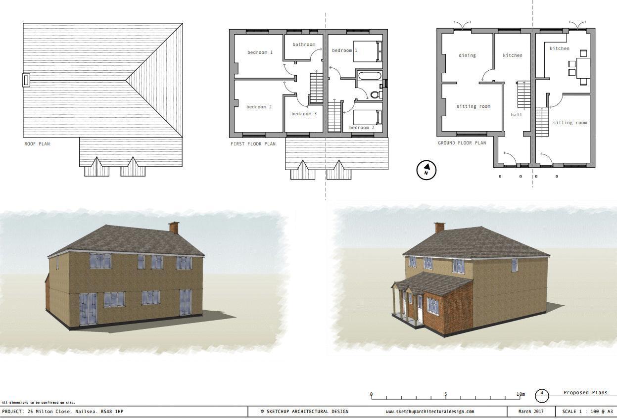 Elevations and plans