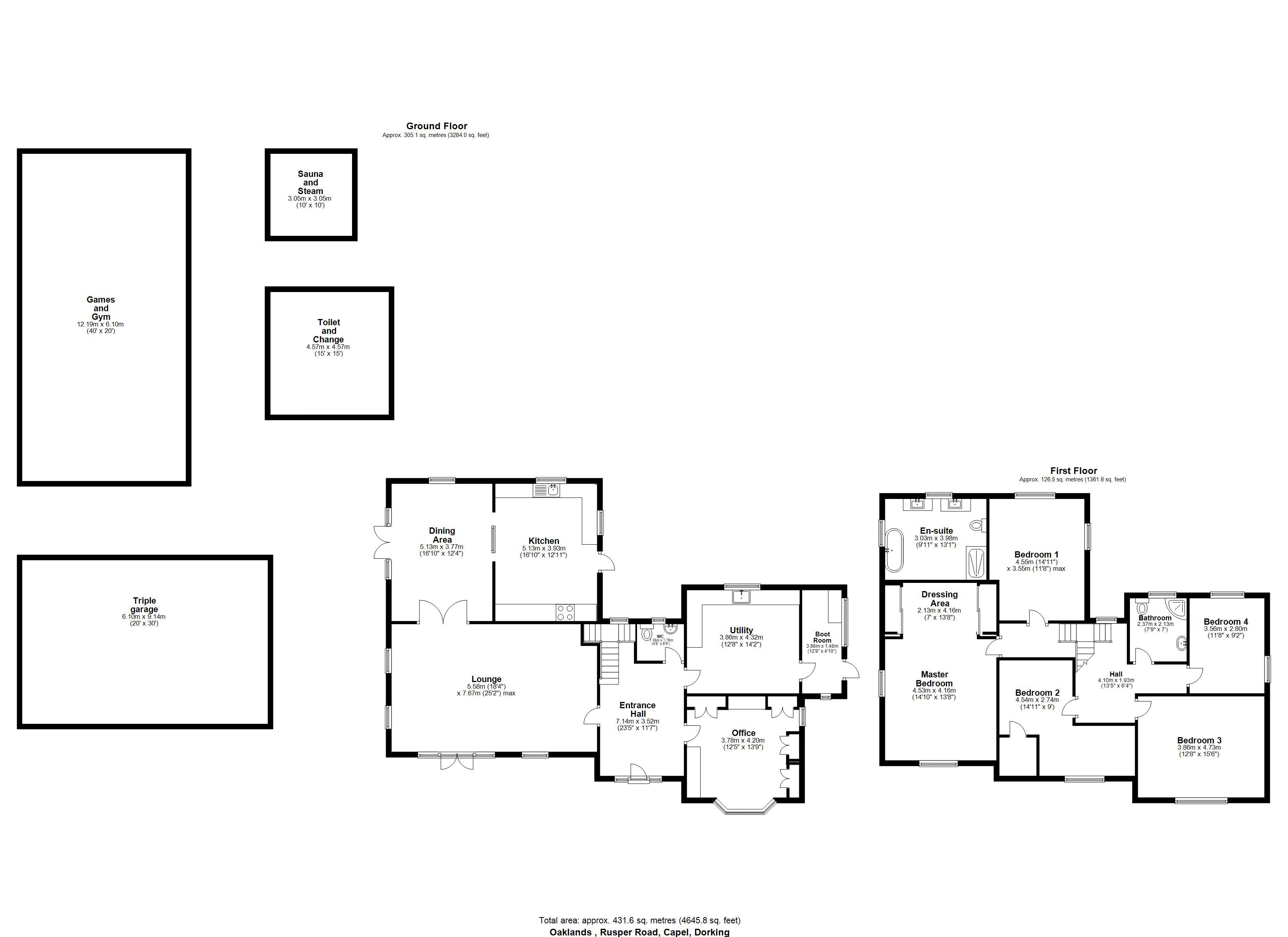 Oaklands Floorplan