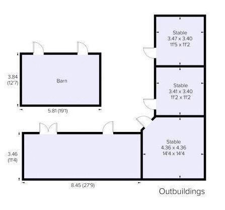 Yewlands Close Floor Plan - Outbuildings