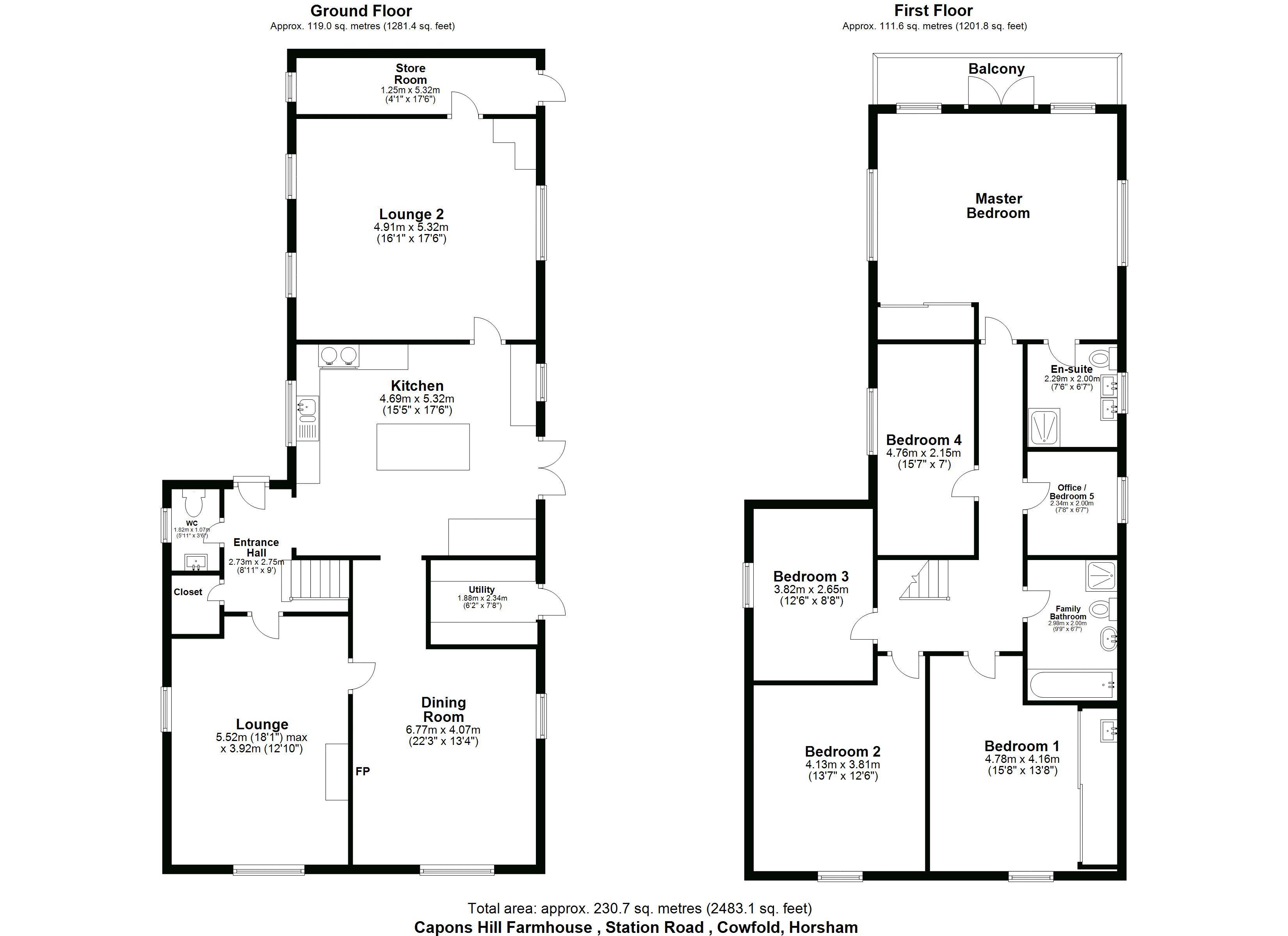 Capons Hill floorplan