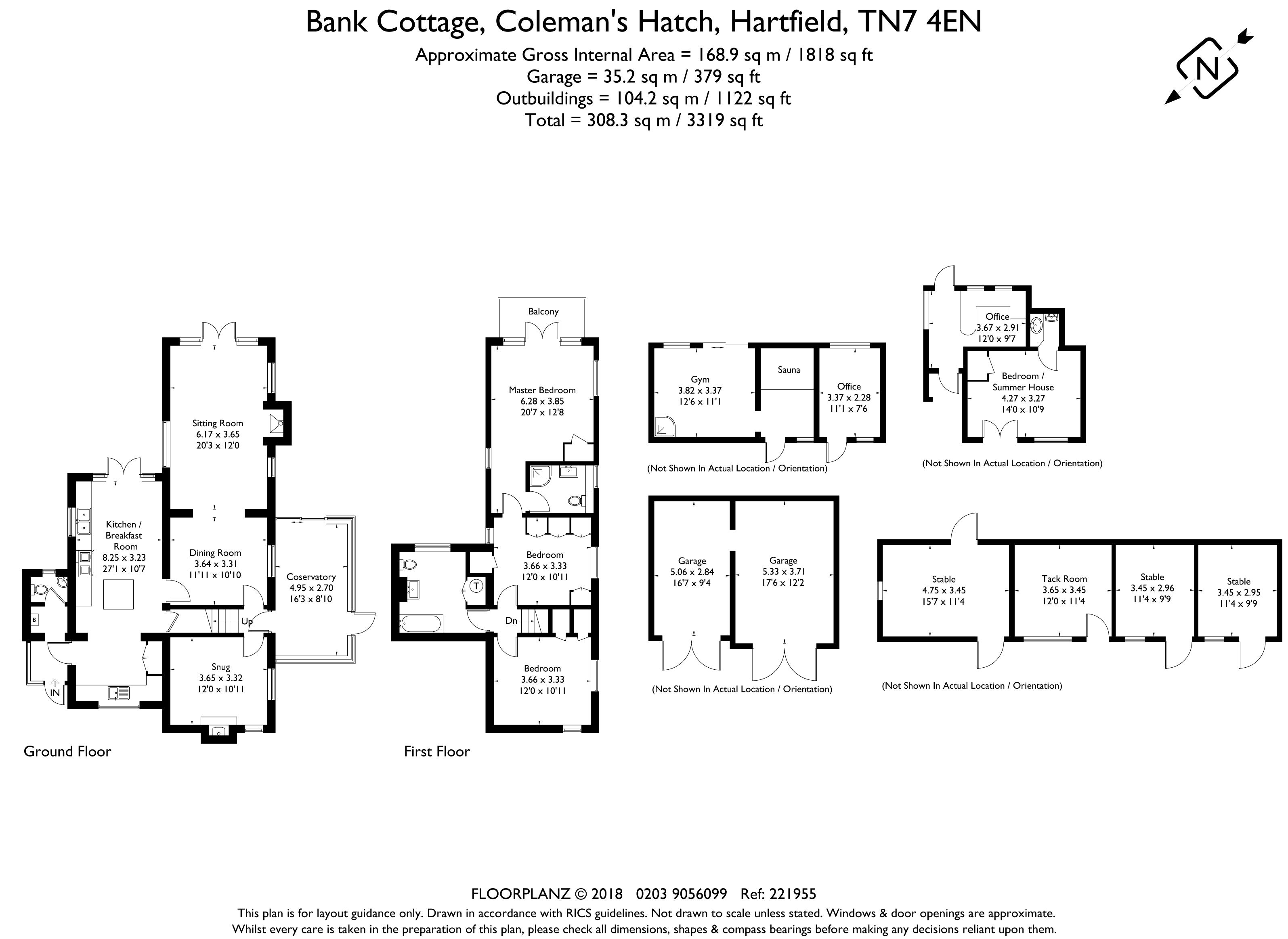 Bank Cottage Floorplan