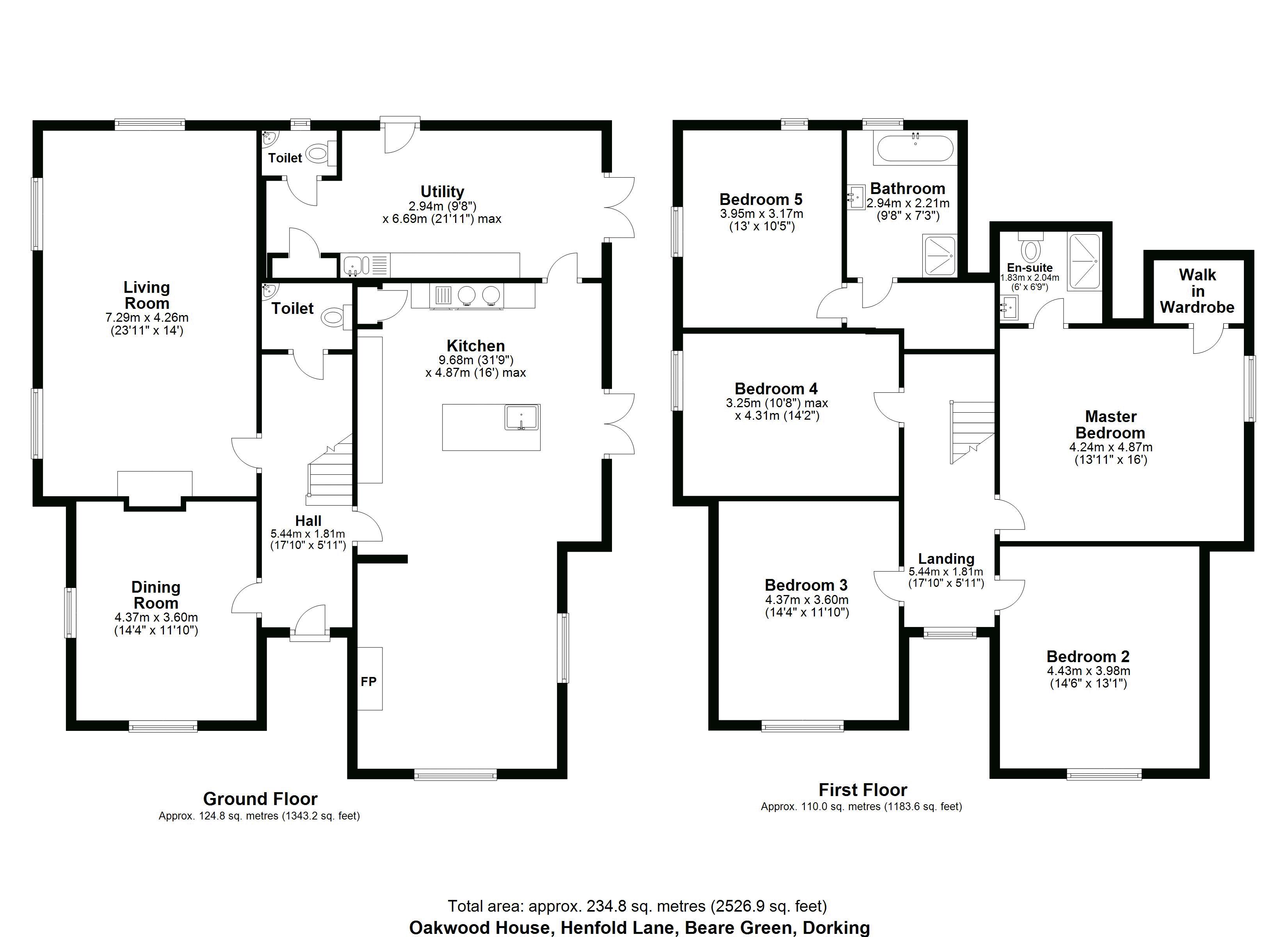 Oakwood House Floorplan