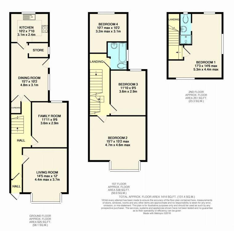 164 New Street Floorplan