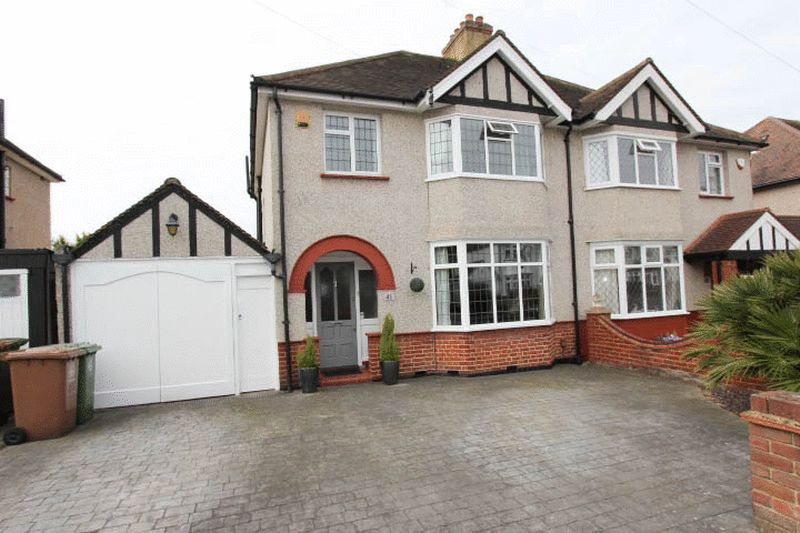 3 Bedrooms Semi Detached House for sale in Courtenay Road, Worcester Park
