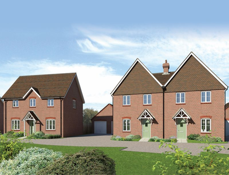 3 Bedrooms Semi Detached House for sale in Plot 63, The Ducklington, Downsview Park, Wantage