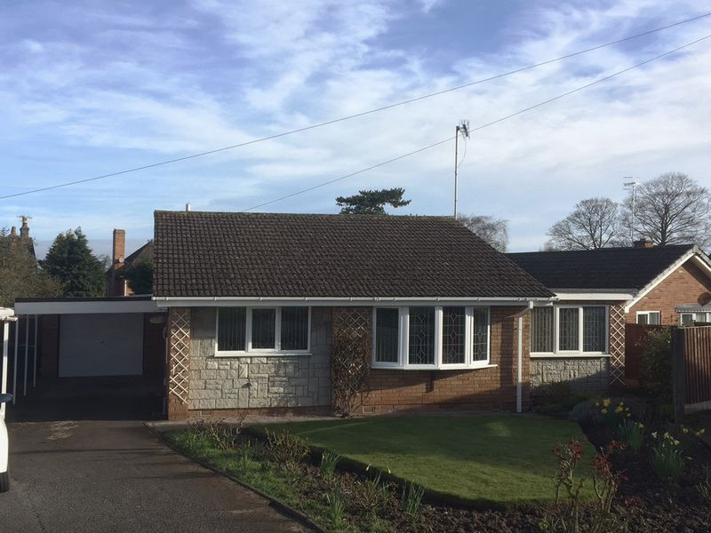 2 Bedrooms Detached Bungalow for sale in 21 Hartlands Road, Eccleshall, Staffordshire