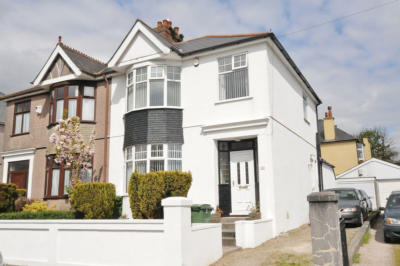 3 Bedrooms Semi Detached House for sale in Beacon Down Avenue, Plymouth. Spacious 3 bedroom family home with driveway, garage and garden.