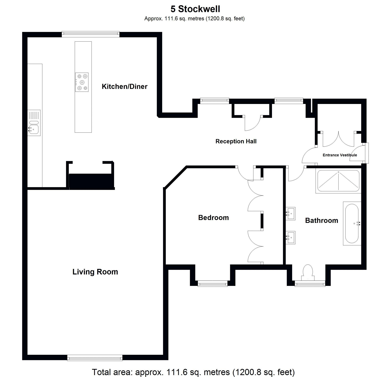Apartment 5 Stockwell - Floor Plan