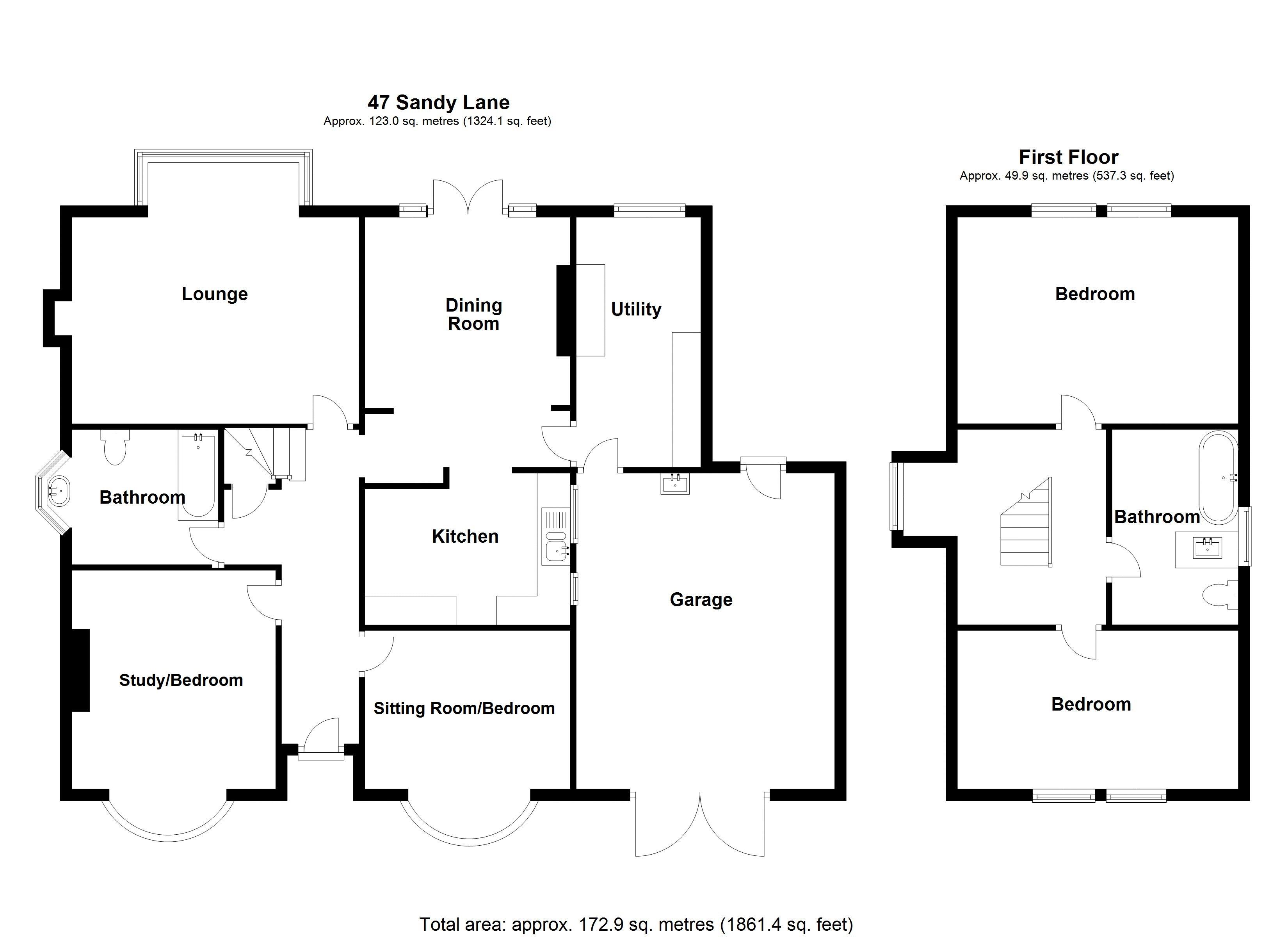 Floor Plan - Main House