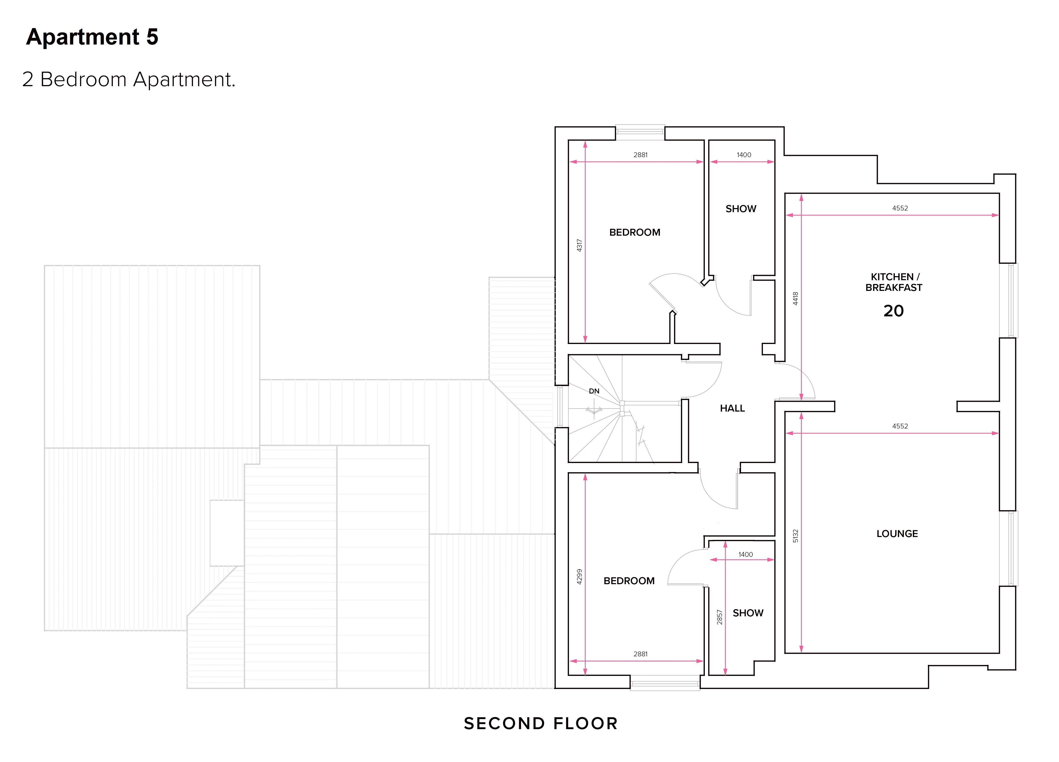 Apartment 5 - Floor Plan