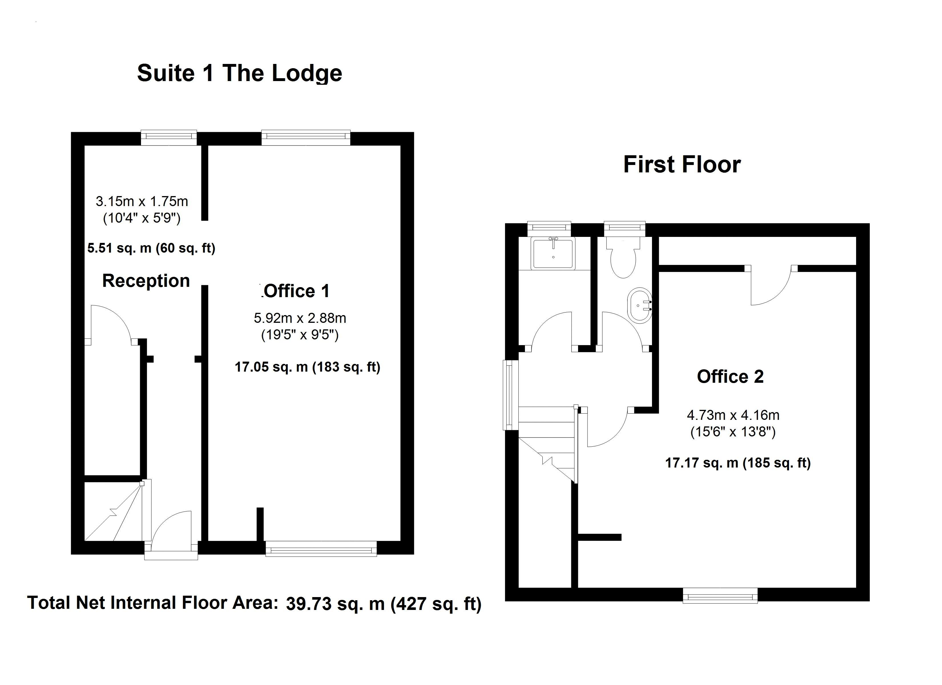 Suite 1 - The Lodge - Floor Plan
