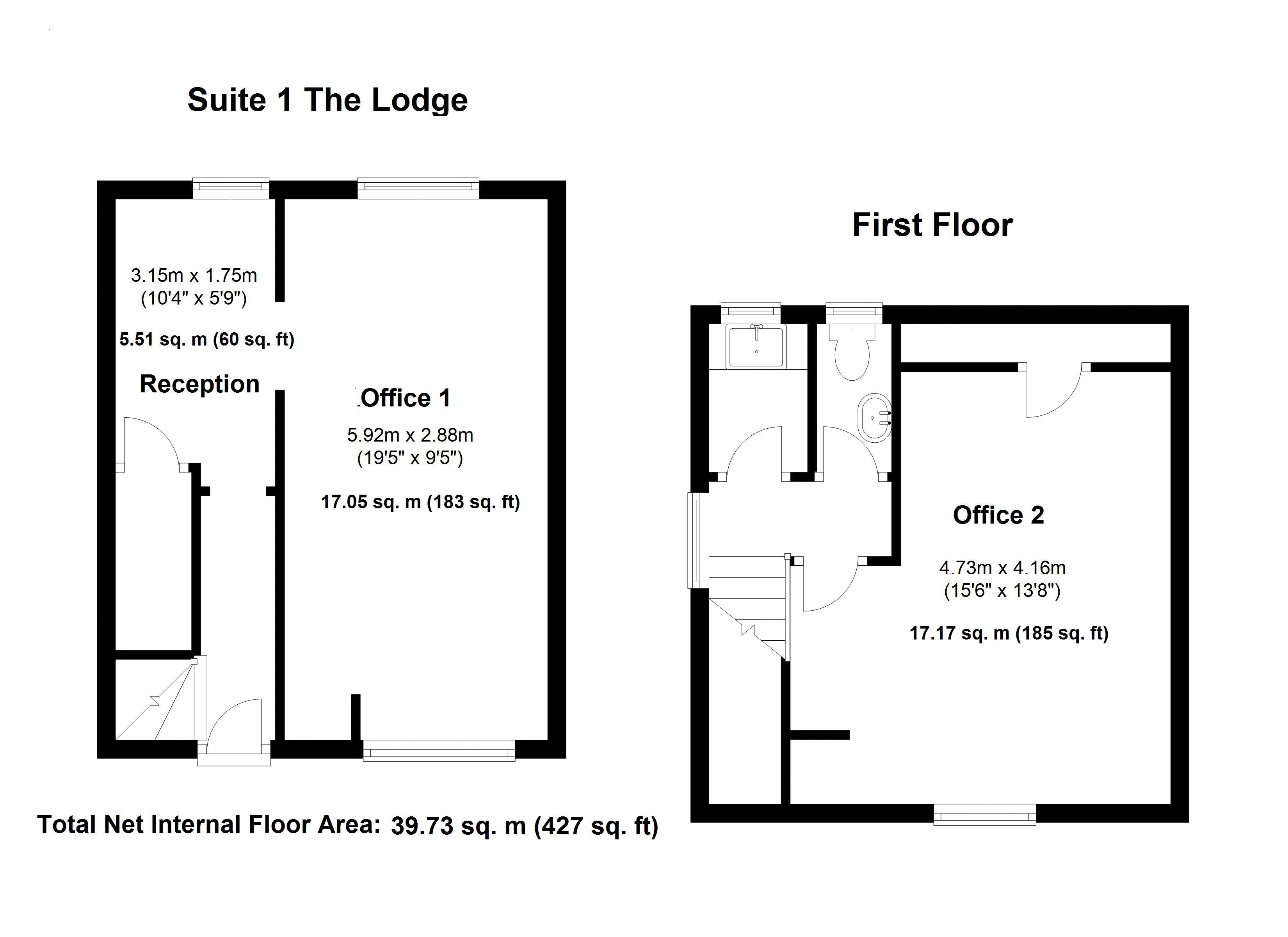 Suite 1 - The Lodge - Floor Plan