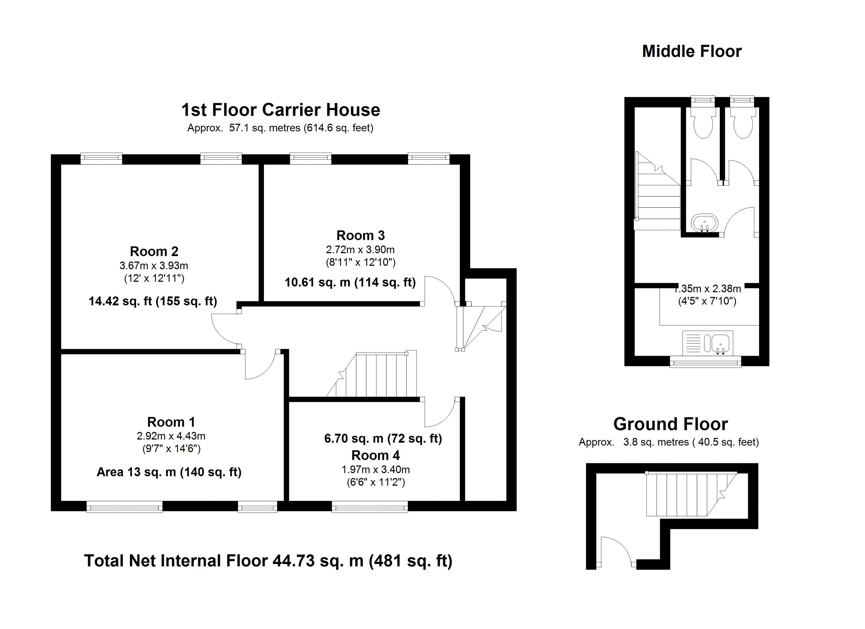 First Floor Carrier House - Floor Plan