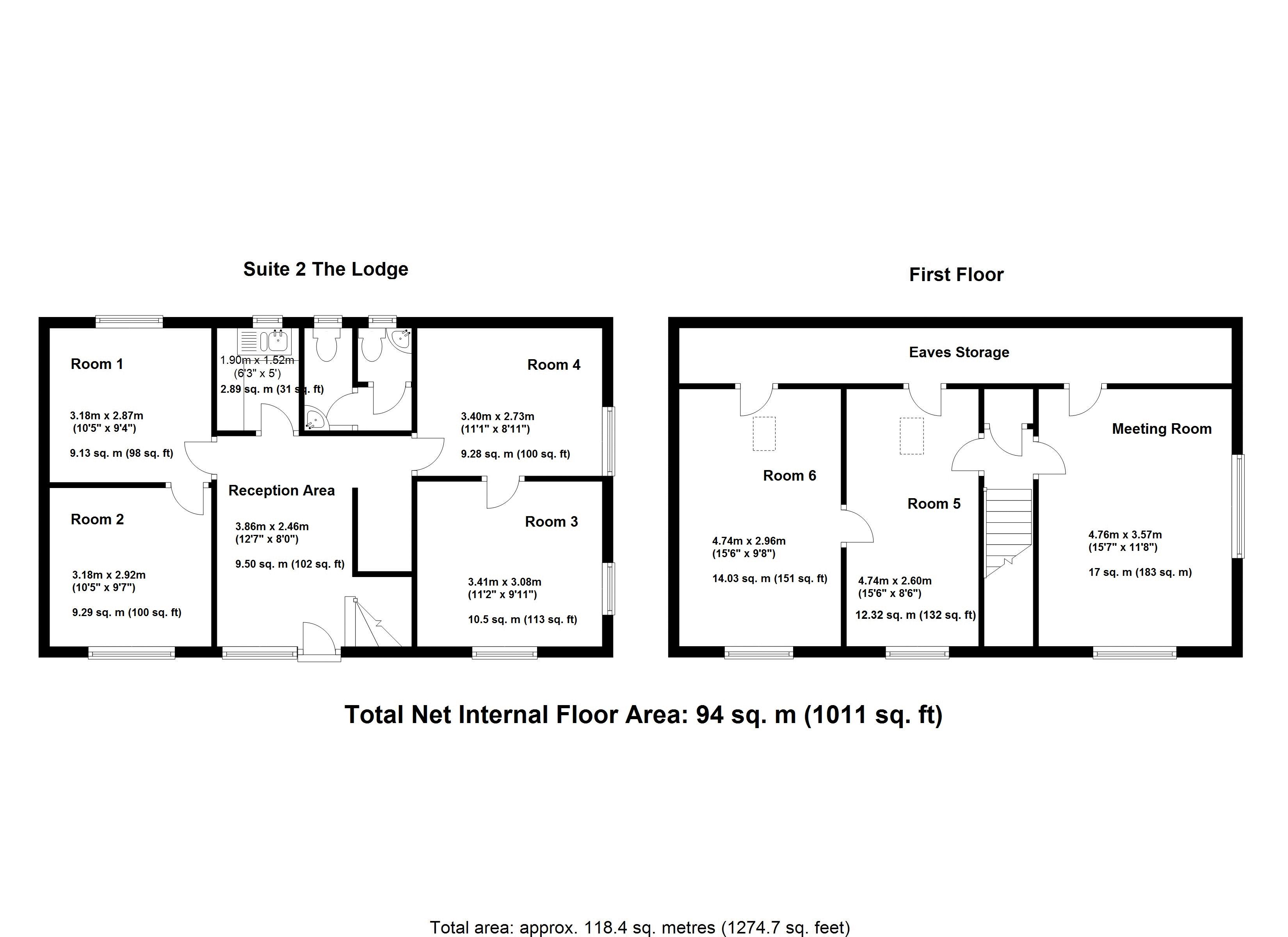 Suite 2 - The Lodge - Floor Plan