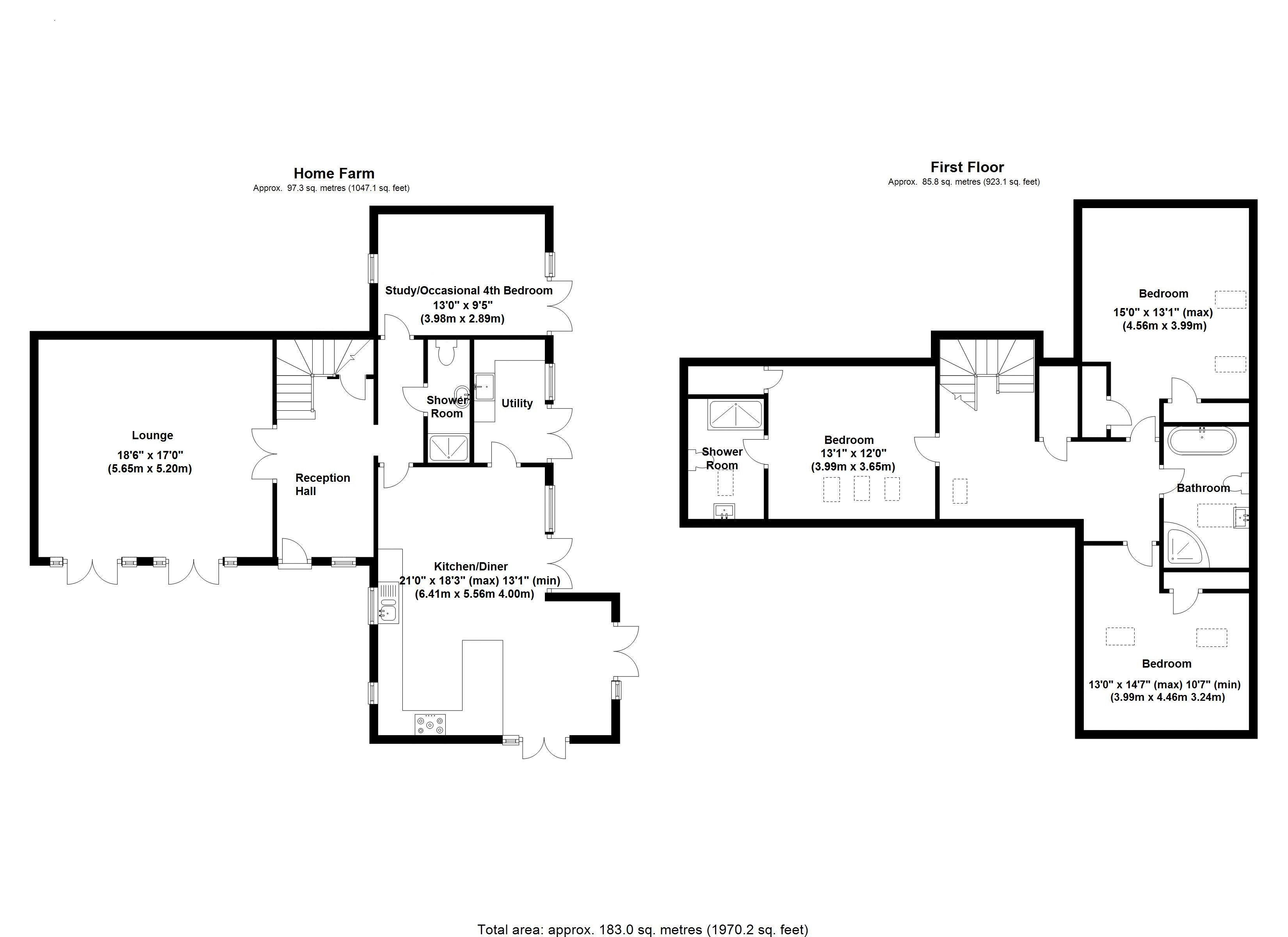 Home Farm Stables - Floor Plan