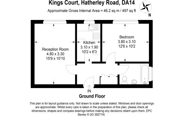 Floorplan for Kings Court