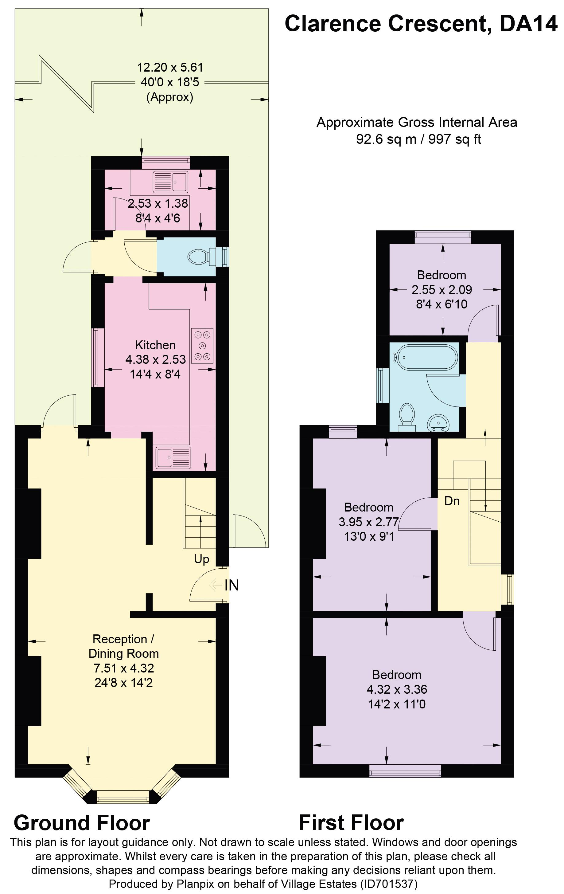 Clarence Crescent Floorplan