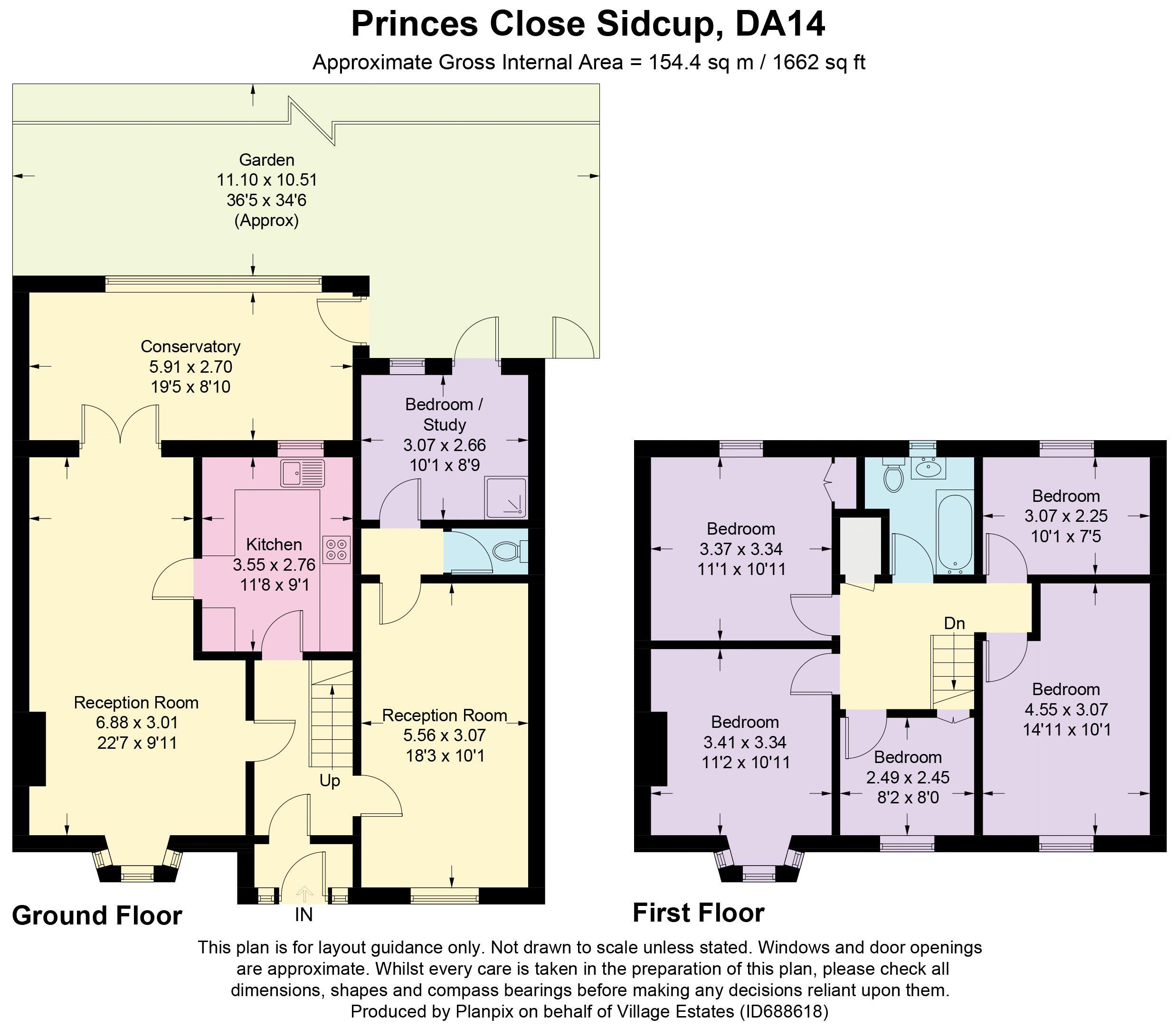 Princes Close Floorplan