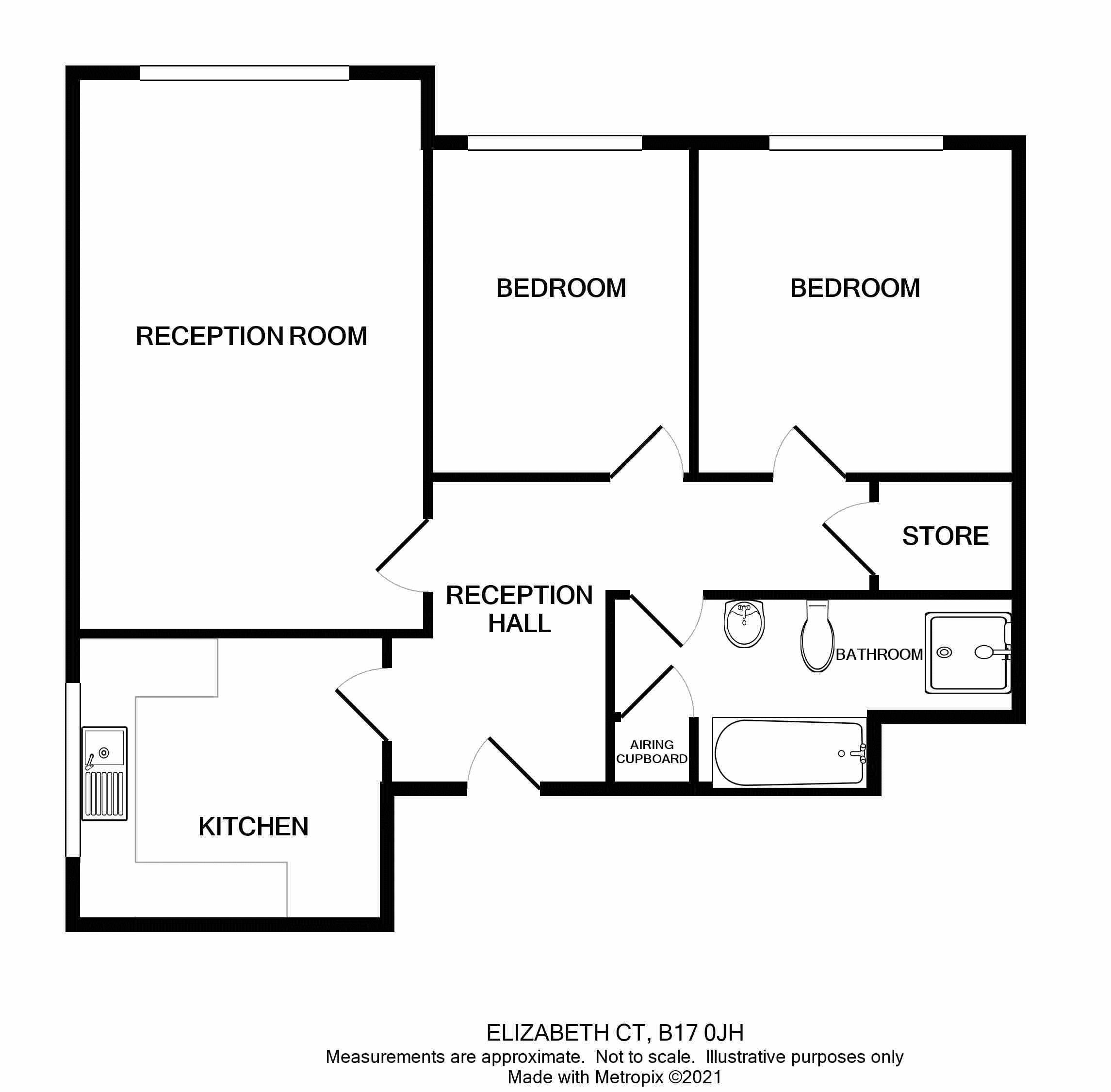 Amber Court Floor plan 11 Elizabeth Court